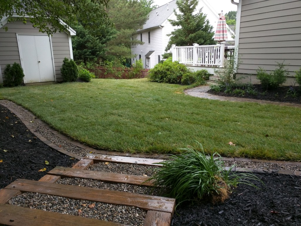 Decorative Yard Drainage : Reclaiming back yard space with a decorative drain ivey