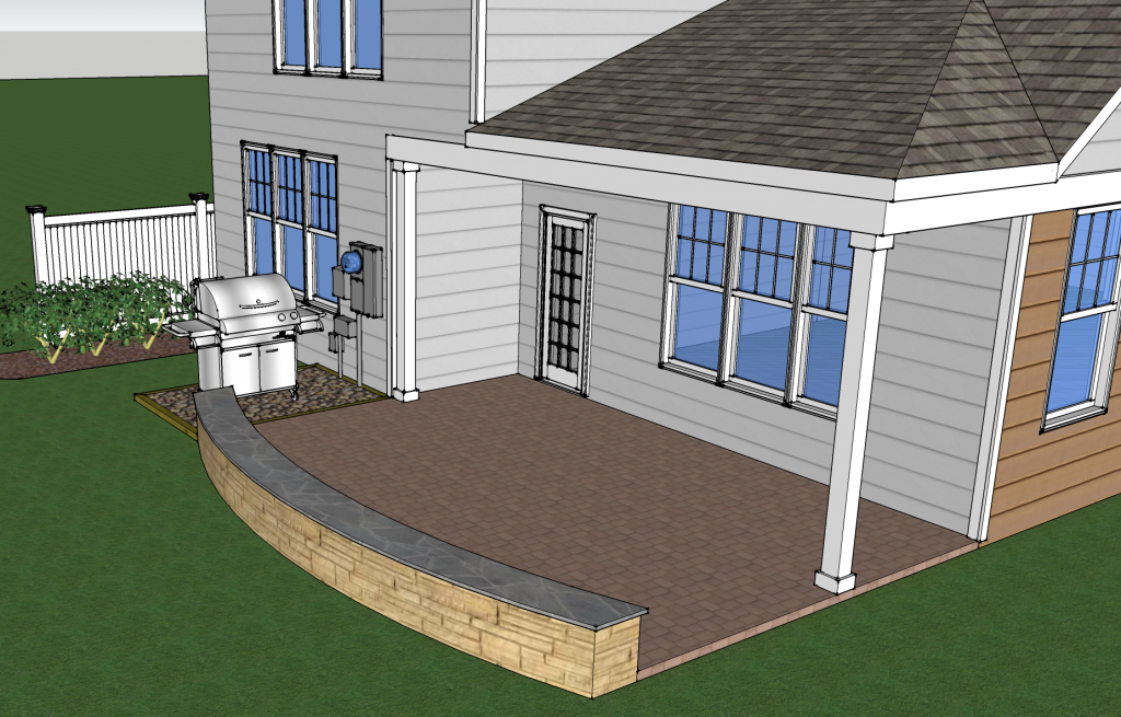 Existing Structure - Paver Patio 2